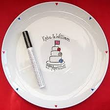 wedding signing plate signing plate union cake