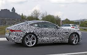 jaguar spied testing 2018 f type with 2 0l turbo four