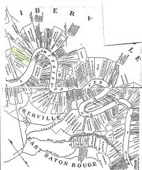 Louisiana Parish Map With Cities by Belle Grove Plantation Louisiana And The Ware Families Who Owned