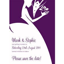 personalised wedding save the day invitations bride and groom