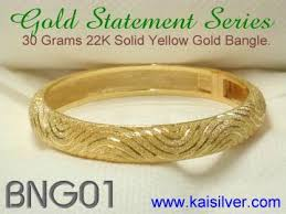 Customized Gold Bracelets Heavy Gold Bangle Kaisilver Custom Made Heavy Gold Or 925