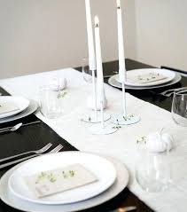 black and white table settings black white table setting ideas simple and stylish use of candles