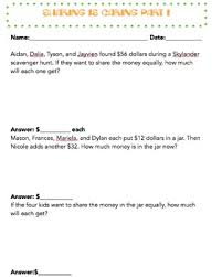 sharing is caring division word problem worksheet by ms miro tpt