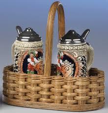german gift basket german steins 75 60 buy salt and pepper shakers steinshaped