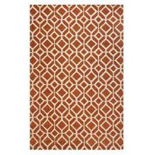 Orange And Brown Area Rug Rectangle Orange 5 X 8 Area Rugs Rugs The Home Depot