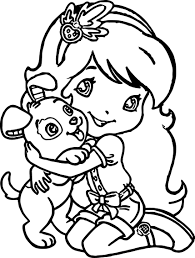 strawberry love dog coloring page wecoloringpage