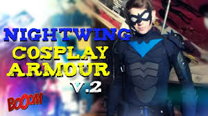nightwing halloween costumes nightwing v 2 cosplay armour review youtube