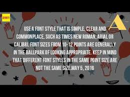 what is the best font to use for a cover letter youtube