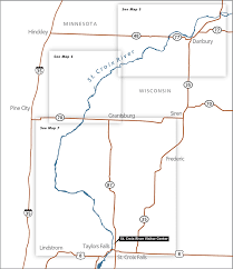 map of st maps croix national scenic riverway u s national park
