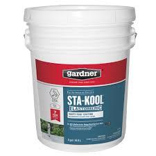 gardner 5 gal sta kool elastomeric white roof coating sk 7705