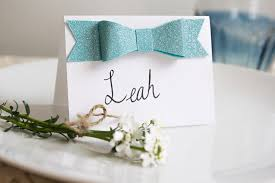 diy place cards diy glitter bow place cards pretty prudent