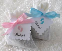 french lavender sachet party favors with thank you tags baby
