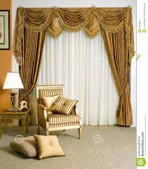 beautiful curtain in living room royalty free stock photo image