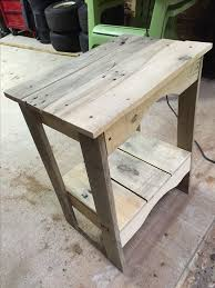 ksg pallet wood end table diy wood working pinterest pallet