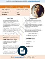 Wedding Resume Sample by Biodata Format For Marriage