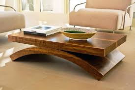 coffee tables simple brown rectangle rustic raw wood coffee