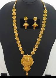 gold set gold bridal jewellery choker necklace gold bridal