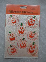 10 packages vintage halloween stickers glittery sparkly jack o
