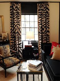 Black And Gold Curtain Fabric Jungle Animal Curtain Material Functionalities Net