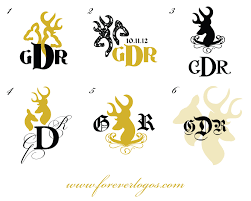 project of the week browning buckmark inspired wedding logo