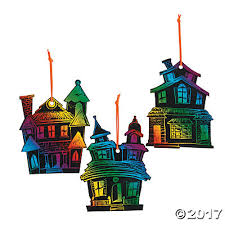 haunted house magic scratch ornaments trading