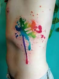 25 unique paint splatter tattoo ideas on pinterest thigh tattoo