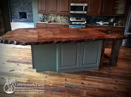 kitchen island wood countertop natural wood countertops live edge wood slabs littlebranch farm