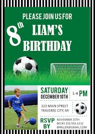 soccer photo birthday party invitations digital file diy
