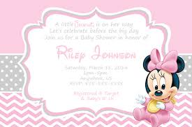 Minnie Mouse Invitation Card Baby Shower Invitations Minnie Mouse Theruntime Com
