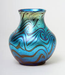 Tiffany Blue Vase Another Of The Four Great Tiffany Favrile Vases That We U0027ll Have At