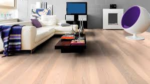 solid parquet flooring glued matte arctic white haro