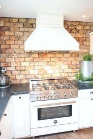 brick backsplash in kitchen faux brick backsplash in kitchen kitchen brick in kitchen