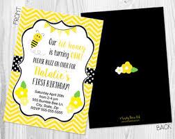 bumblebee invitation etsy