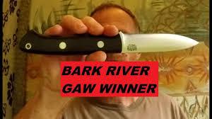 bark river kitchen knives bark river aurora lt gaw winner youtube