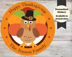 Stickers For Favors by Happy Turkey Day Thanksgiving Stickers Favors Mckenna