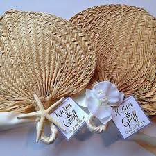 Hand Fan Wedding Programs Food U0026 Favor Palm Leaf Raffia Fans For Beach Wedding 2256952