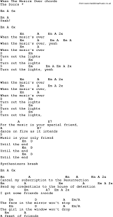 Turn Out The Lights Song Song Lyrics With Guitar Chords For When The Music U0027s Over