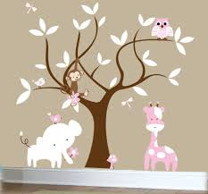 Kids Bedroom Wall Decals Decoration Ideas Stunning Image Of Light Pink Owl Pink Giraffe