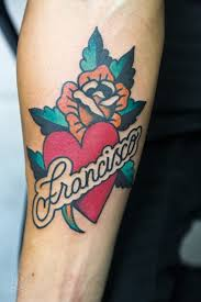 25 beautiful traditional tattoo with script ideas on pinterest