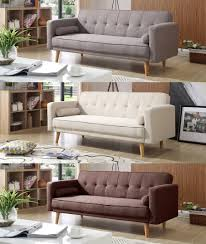 Home Furniture Sofa Foxhunter Fabric Sofa Bed 3 Seater Couch Luxury Modern Home
