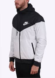 nike windbreaker nike sportswear windrunner jacket white black
