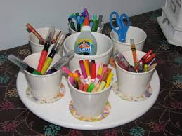 getting organised arts and craft supplies