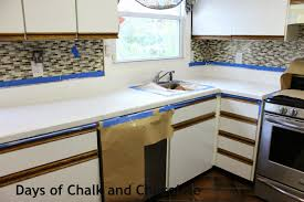 Kitchen Sink Paint by How To Paint Your Countertops Days Of Chalk And Chocolate