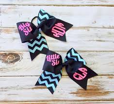 big sis sis glitter cheer bows monogrammed gifts for