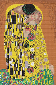 pattern art pdf the kiss by klimt cross stitch pattern pdf chart famous painting