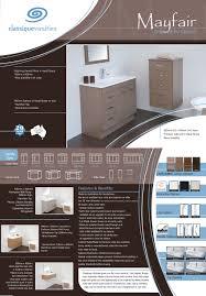 Bathroom Vanity 900mm by Bathroom Vanity Brochures Classique Vanities 07 3804 3344