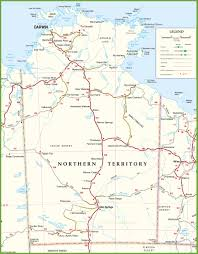 northern map large detailed map of northern territory with cities and towns