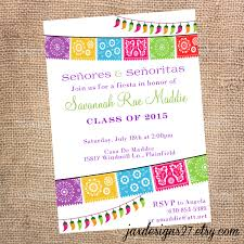 fiesta party invitations graduation invitations birthday