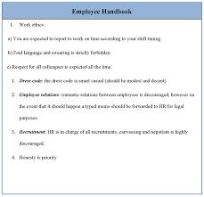 employee handbook template free u2013 template design