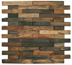 Recycled Wood by Reclaimed Boat Wood Tile Interlocking Bricks Pebble Tile Shop
